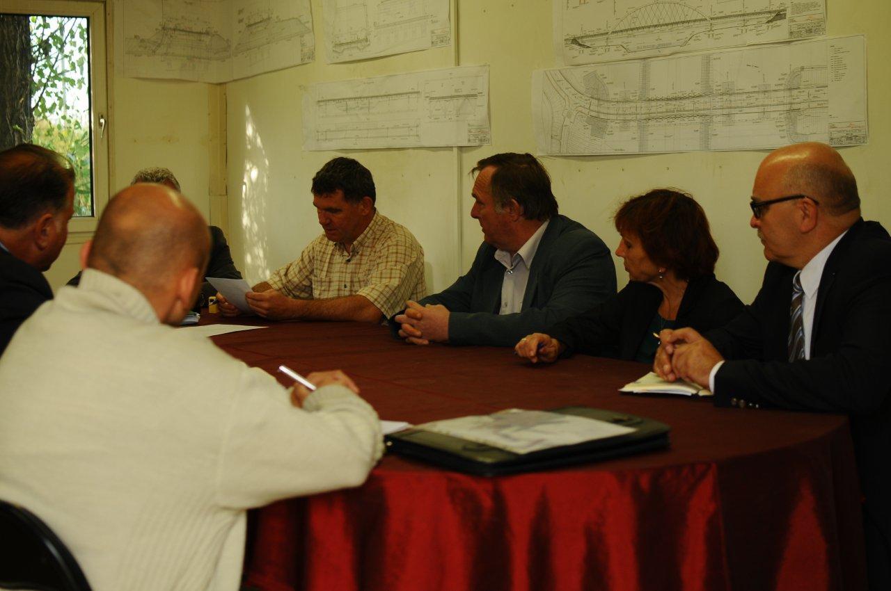 Przedstawiciele Zarządu Powiatu podczas narady