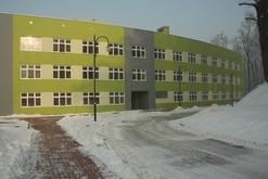 Nowe skrzydło kozielskiego szpitala - widok od tyłu obiektu
