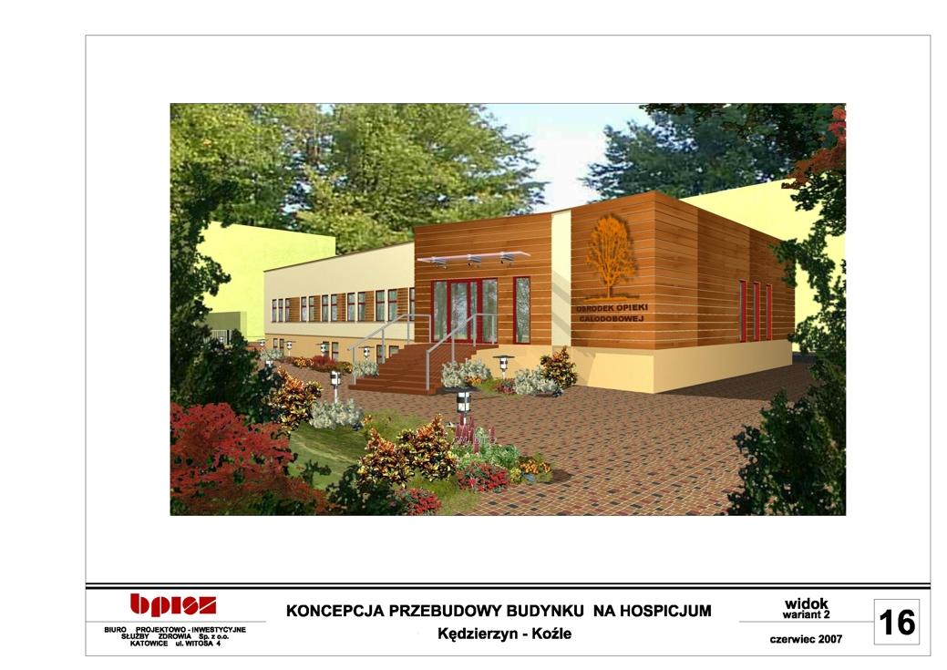 Projekt zewnętrzny hospicjum