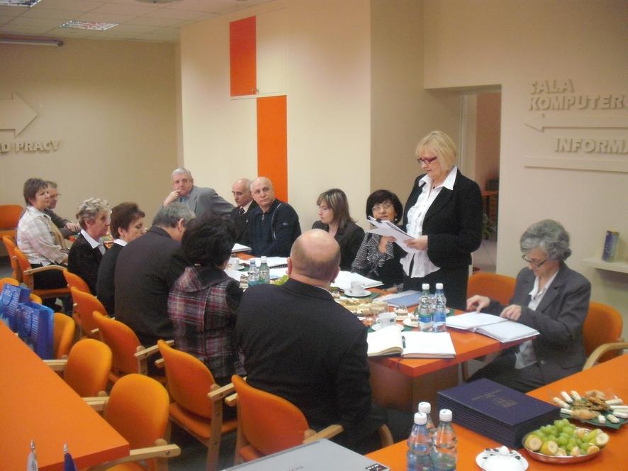 Rozpoczęcie prac nowowybranej Powiatowej Rady Zatrudnienia - referuje Dyrektor PUP Maria Labus