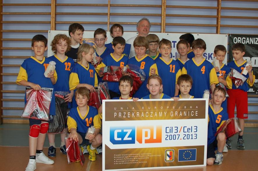 Uczestnicy turnieju a zarazem zwycięzcy: zespół Publicznej Szkoły Podstawowej w Bruntalu