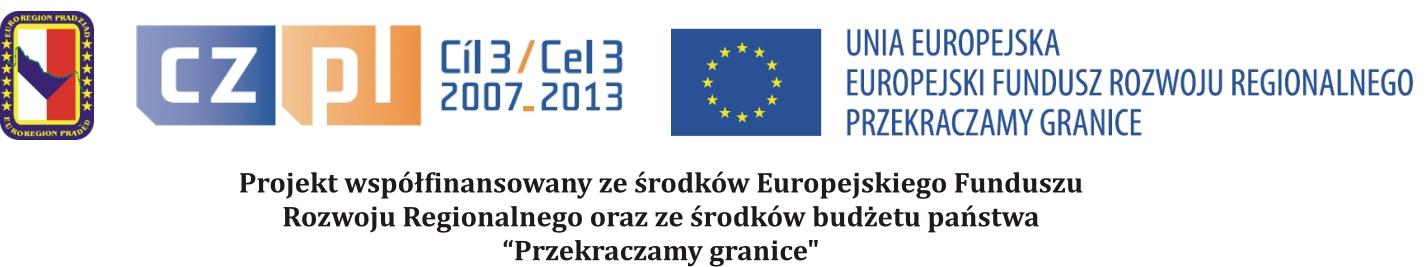Logo programu z którego pochodzi dofinansowanie mikroprojektu. Dziękujemy Euroregionowi Pradziad