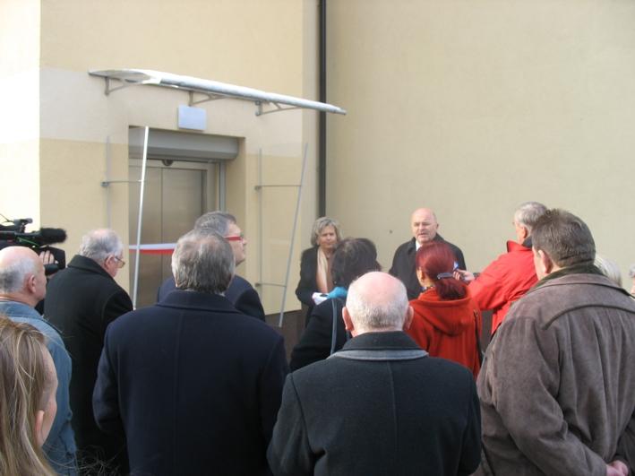 Otwarcie i uruchomienie windy przy PCPR przy ulicy Skarbowej w Koźlu