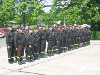 Strażacy podczas uroczystości