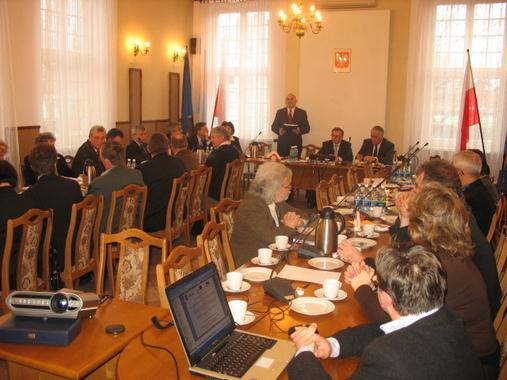 Spotkanie z samorządowcami w Starostwie Powiatowym w Kędzierzynie - Koźlu