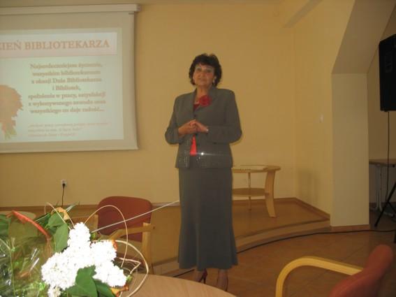 Halina Bulanda, dyrektor Miejskiej Biblioteki Publicznej