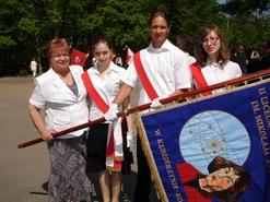 Poczet sztandarowy Liceum Ogólnoksztqałcącego nr II w Kędzierzynie - Koźlu