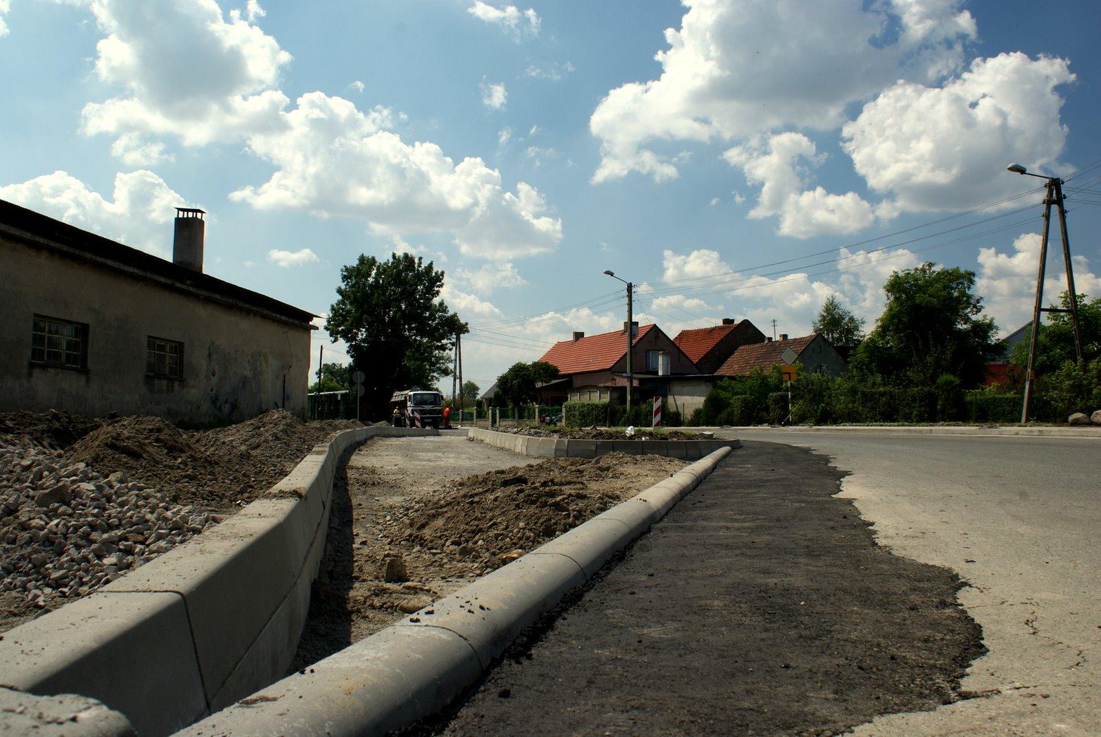 Remont ulicy Stoczniowców w Koźlu Rogach