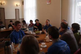 Podczas prezentacji projektu Agropuzzle
