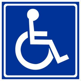 Logo osób niepełnosprawnych